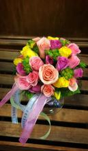 Colorful Rose Mini Bouquet