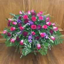 Hot Pink & Purple Casket Spray