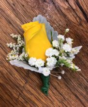 Lutz Yellow Boutonniere