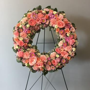 Garden Of Pink Wreath