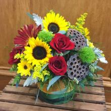 Sunflowers & Burlap