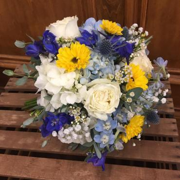 Sunshine & Blue Bouquet