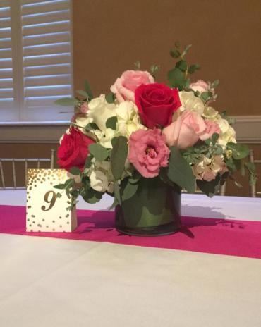 Shades Of Pink Centerpiece