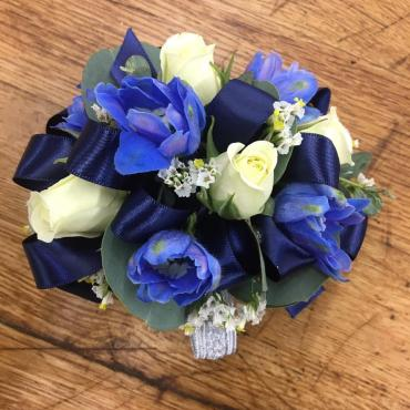 Shades Of Blue Corsage