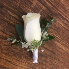 Classic White Rose Wrapped