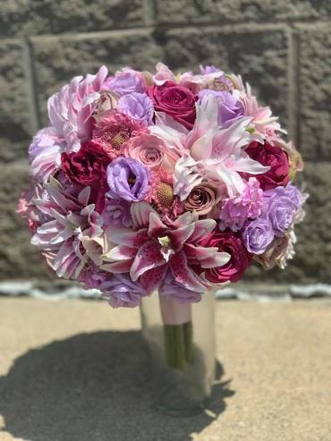 Pink Rose Lily Bouquet