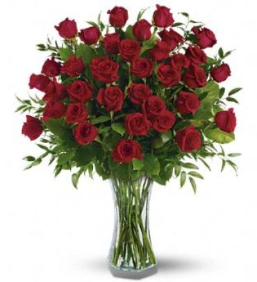 3 Dozen Roses Vased