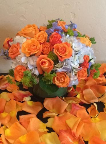 Orange & Blue Centerpiece