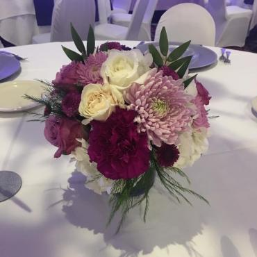 Purple Garden Centerpiece