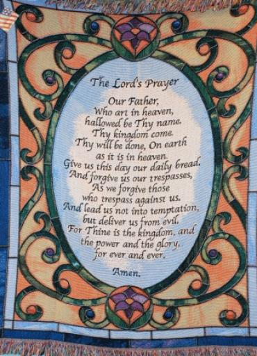 Lutz Memorial Afghan Lords Prayer LZMA-1
