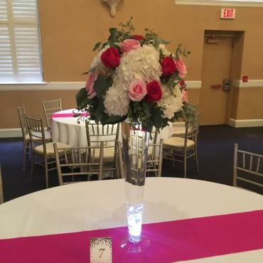 Tall Pink Garden Centerpiece Mix