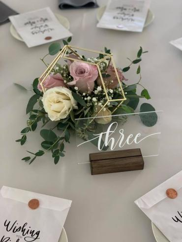 Vintage Roses in Gold Terrariums