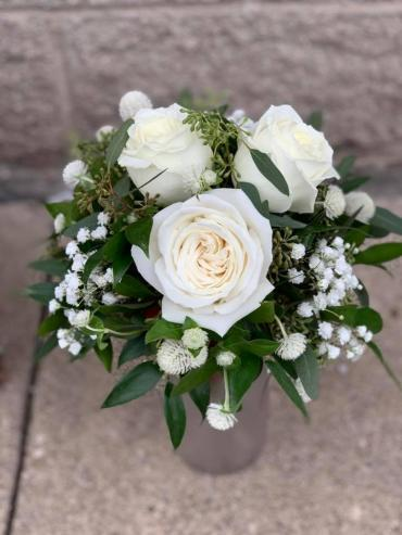 Simple White Rose Bouquet