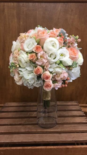 Peach & White Bouquet