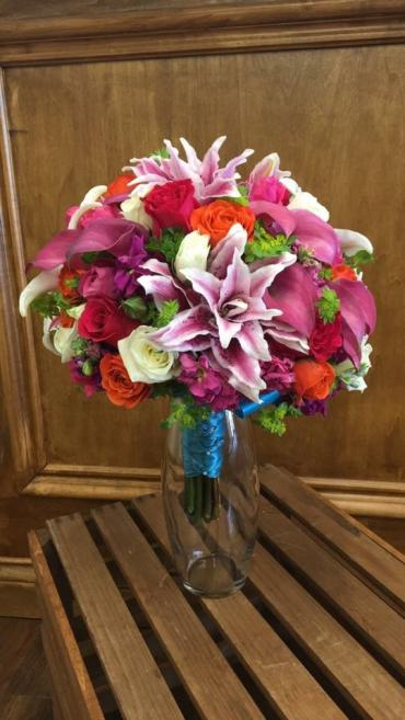 Bright Rose Lily Mix Bouquet