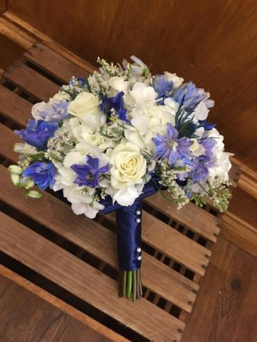Garden Of Blue Wedding Bouquet