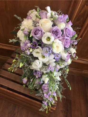 Purple Cascading Bouquet