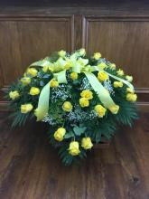 Lutz Yellow Rose Casket Spray