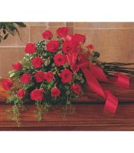 Lutz Red Rose Casket Spray LCS-17