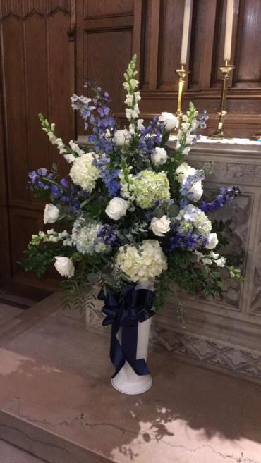Blue Altar Arrangement