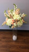Tall Touch Of Peach Centerpiece