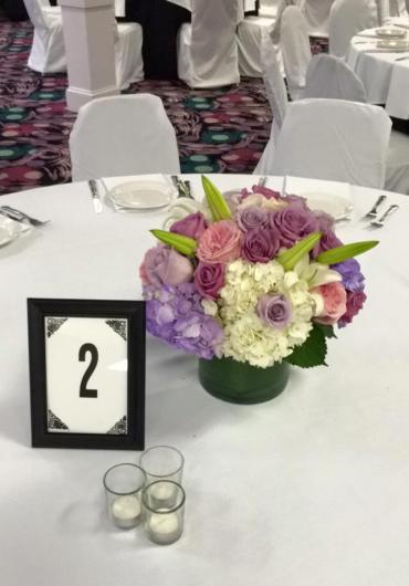 Shades Of Purple Centerpiece