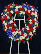 Lutz Red White and Blue Tribute Wreath LW-1