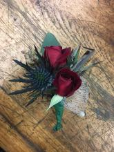 Red Enchantment Boutonniere