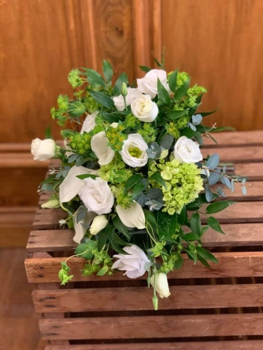 Lush Green & White Bouquet