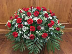 Red Rose & Carnation Casket spray