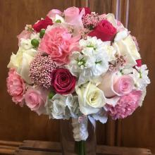 Fushsia & White Bouquet