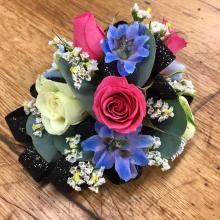 Pink, White & Blue Mix Corsage
