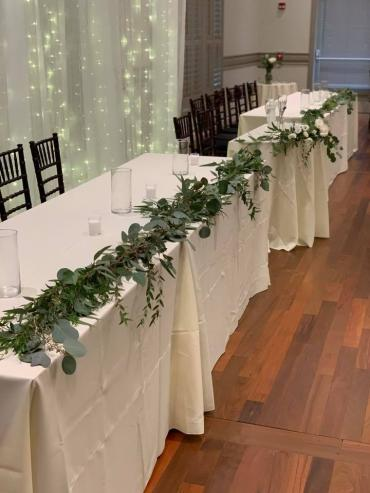 Head Table Greenery