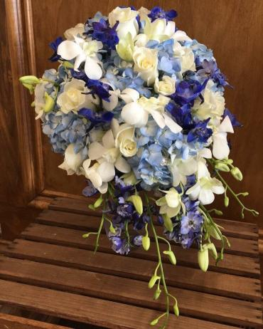 Cascading Blue Bouquet