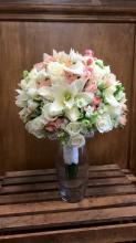 Peach & White Rose Lily Bouquet